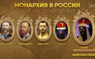Монархизм — история России