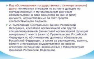 Статья 119 БК РФ. Обслуживание государственного (муниципального) долга (действующая редакция)