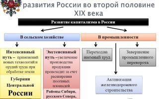 Модернизация российской экономики во второй половине xix века — история России