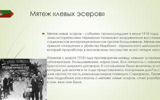Мятеж левых эсеров — история России