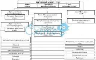 Органы государственной власти и управления ссср по конституции 1977 г. — история России