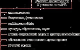Статья 6. полномочия правительства российской федерации