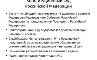 Статья 1. Конституционный Суд Российской Федерации — высший судебный орган конституционного контроля