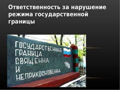 Статья 43. Ответственность за правонарушения на Государственной границе