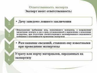 Статья 58. Ответственность экспертов