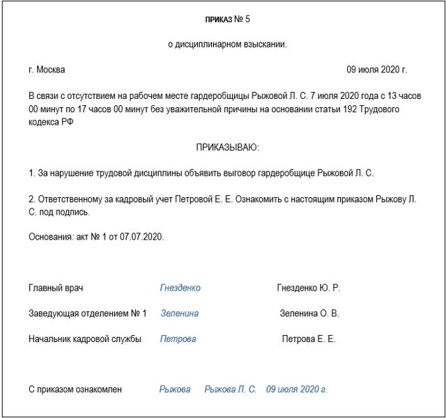 Статья 58. Порядок применения и снятия дисциплинарного взыскания