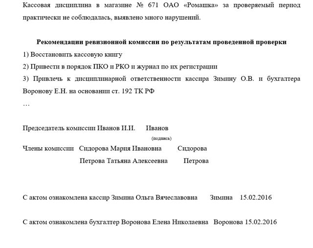 Статья 32. Ревизионная комиссия